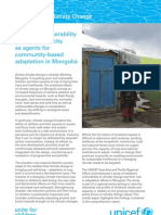 Mongolia Climate Change Report