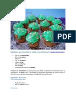 Ingredientes Para Los Muffins de Vainilla