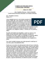 Carta Abierta de Emiliano Zapata