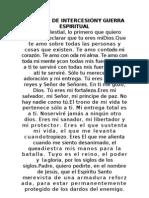 ORACION DE INTERCESIÓNY GUERRA ESPIRITUAL