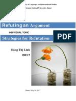 Strategies for Argument Refutation