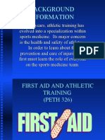 FIRST AID AND ATHLETIC TRAINING
