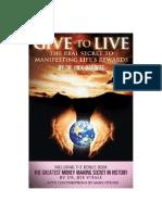 Give to Live by Joe Vitale