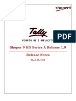 Shoper 9 HO Series a Release 1.9 Release Notes  | Tally Helpdesk  | Tally Developer  | Tally.NET Services