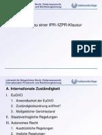 Aufbau Einer IPR - IZPR - Klausur - Allgemein