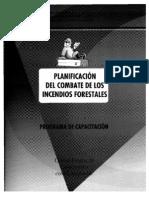 PLANIFICACION DEL COMBATE DE LOS INCENDIOS FORESTALES
