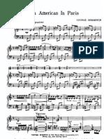 Gershwin, Score, American in Paris
