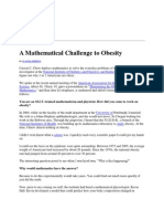 A Mathematical Challenge to Obesity