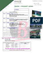 Tour Itinerary Bkk Phuket 5d4n New