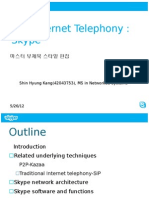 Internet Telephony Skype Presentation_ShinHyungKang UCID42043753