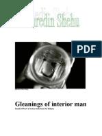 Gleanings of Interior Man a Scrapbook by Fahredin Shehu
