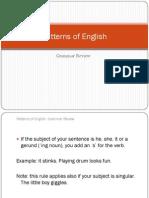 Patterns of English
