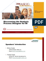 Discovering the Analysis Process Designer for BI