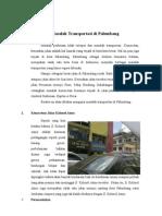 Masalah Transportasi Di Palembang