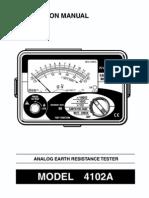 34484584 Kyoritsu Earth Tester 4102A