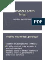 Metamodelul pentru limbaj