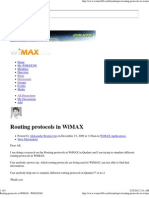 Routing Protocols in WiMAX - WiMAX360