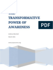 The Transformative Power of Awareness