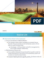 Material Management - Master Data
