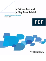 Blackberry Bridge and Blackberry PlayBook Tablet-Security Technical Overview