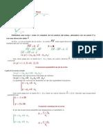 Ecuasion Vectorial de La Recta