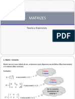 MATRIZES - Teoria e Exercicios