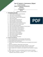 BCom VI Analysis of Financial Statements