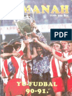 Almanah Tempo YU-Fudbal 90-91.