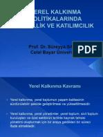 YEREL KALKINMA POLİTİKALARINDA YERELLİK