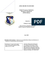 RF Dosimetry Radiation Handbook (7/09)