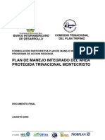 Plan de Manejo Integrado del Área Protegida Trinacional Montecristo. Documento Final