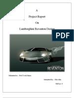 Lamborghini Project Report on Design