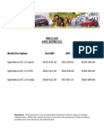 Opel Gtc Prices