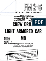 FM 26 1943 Manual Crew Drill Light Armored Car M8