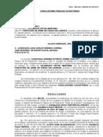 Conclusion Causa Penal 17-11 Gaudencio Hoyos