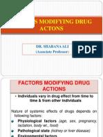 02. Factors Modifying Drug Actions