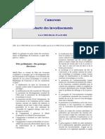 Cameroun - Charte Des Investissements