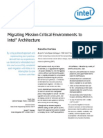 Intel It Migrating Mission Critical Environments to Intel Architecture Paper