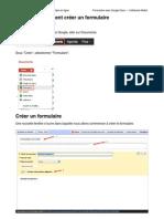 Formulaire Google Docs