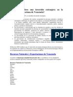 Qué se considera una inversión extranjera en la República Bolivariana de Venezuela