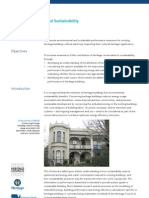 Heritage Buildings Sustainability Guidelines