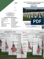 Calverton National Cemetery - Memorial Day 2012 - Complete Program