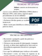 TECNICAS  DE LEITURA