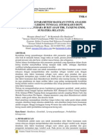 Karakterisasi Parameter Masukan Untuk Analisis Kestabilan Lereng Tunggal