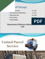 UPS Analysis