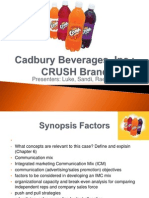Cadbury Beverages, Inc V3a Rae