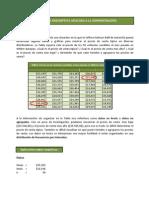 Aplicación de la estadística descriptiva en Excel