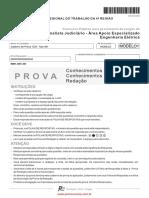 Fcc 2009 Trt 4a Regiao Rs Analista Judiciario Engenharia Eletrica Prova