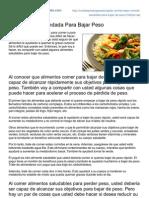 Comidaparabajarpesorapido.com-Comida Recomendada Para Bajar Peso