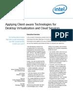 Intel It Client Aware for Desktop Virtualization Cloud Services Paper
